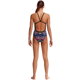 Funkita Single Strap Swimsuit Girls, Multicolor